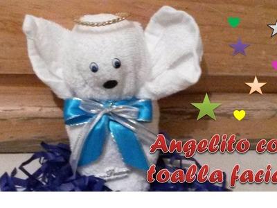 Angelito hecho con una toalla facial !!!