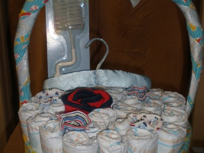 Canasta de Pañales para Baby Shower.