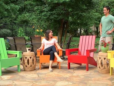 Cómo construir una silla de jardín Adirondack