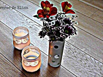 Cómo Decorar Vidrio, Florero y Lámparas de Vidrio Pintado