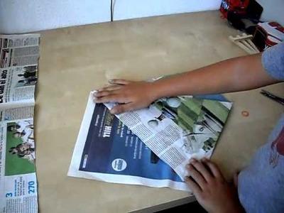 Cómo hacer Bolsas con papel de periódico