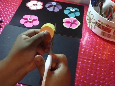 Como hacer FLORES DE PAPEL 3D original