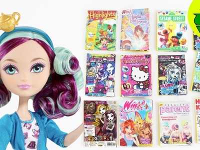 Cómo hacer revistas para tus muñecas - Manualidades para muñecas