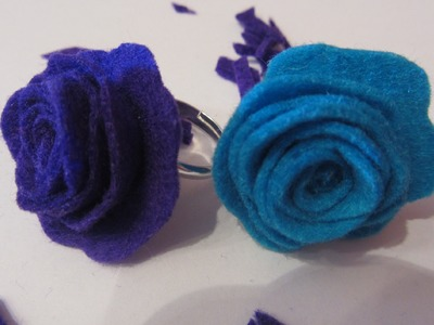 Cómo hacer un anillo con rosa. How to make a ring whit rose.