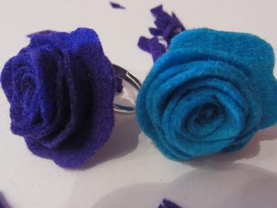 Cómo hacer un anillo con rosa. How to make a ring whit rose.