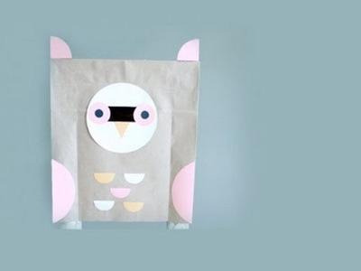 Cómo hacer un disfraz de búho de papel