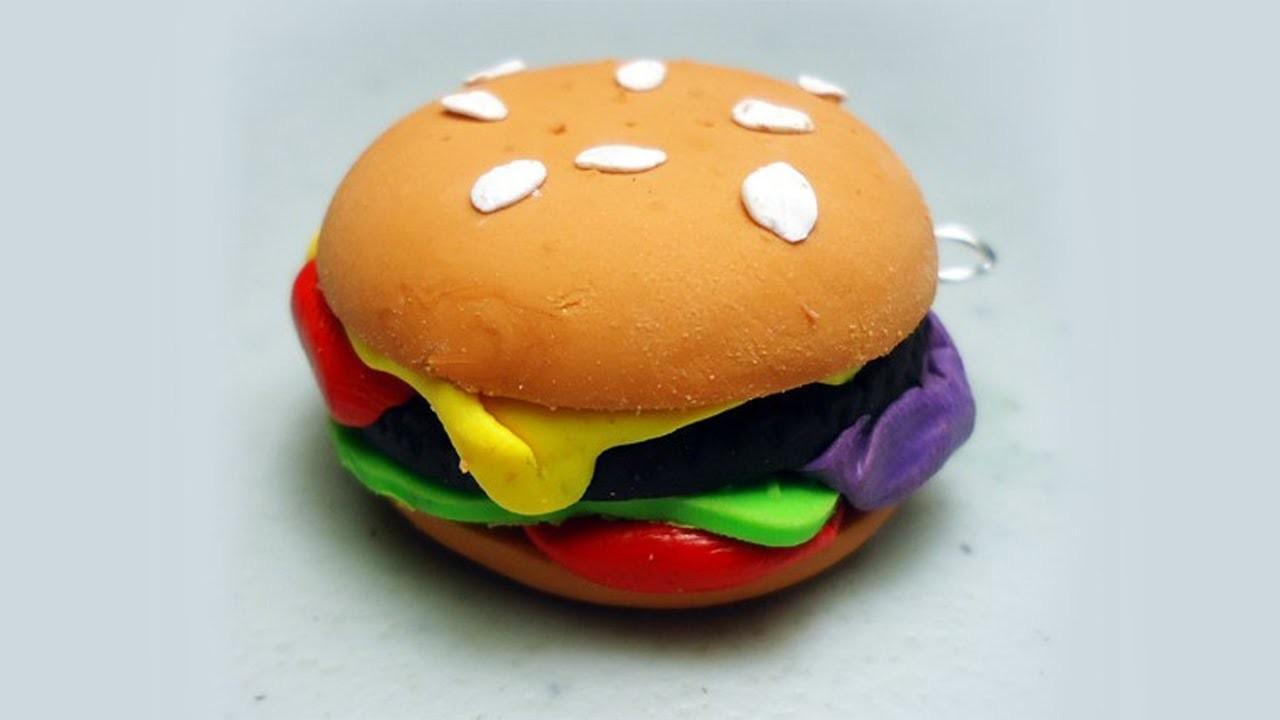 Cómo hacer una hamburguesa con arcilla polimérica