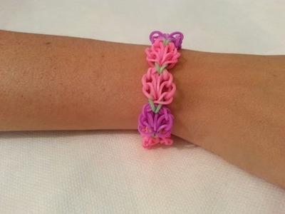 Cómo hacer  una pulsera de flores con gomas | facilisimo.com