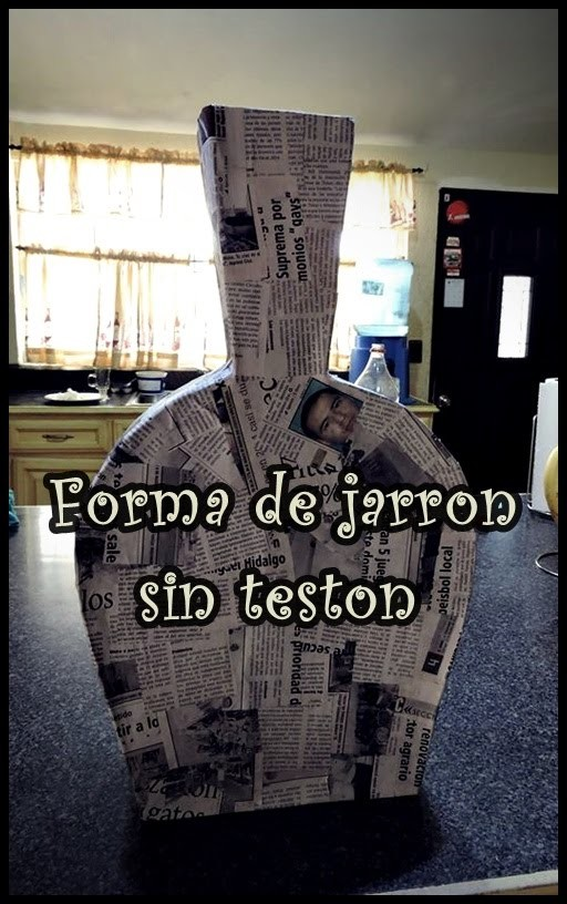 Como realizar un jarron de carton. 1era. parte.How to make a vase of cardboard 1st. part