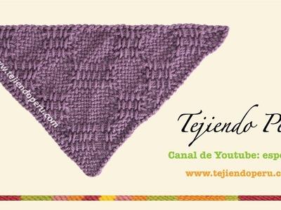 Cómo tejer el punto canasto en telar triangular