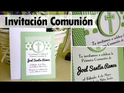 COMUNIÓN: Invitación niño - first communion invitation