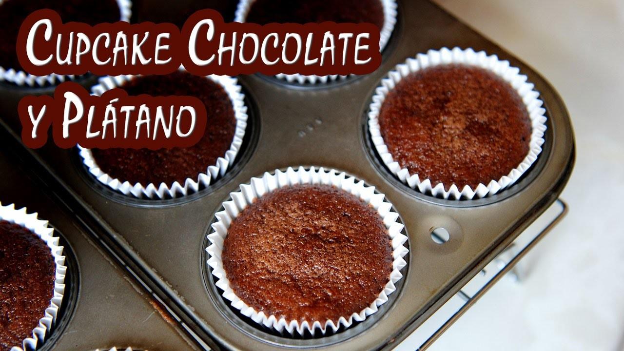 Cupcakes de Chocolate y Banana o Platano