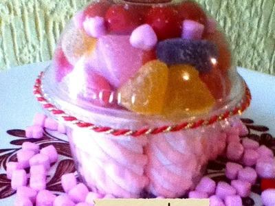 Cupcakes PANQUESITO bombones y gomitas cupcakes marshmallows & gummys san valentin