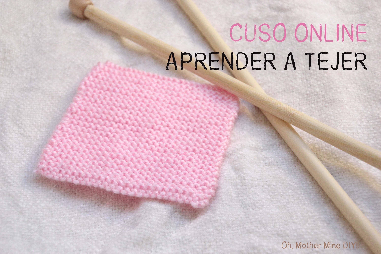 Curso online gratis Aprender a tejer 5: Como hacer punto bobo o punto musgo.
