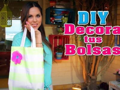 Decora tus bolsas para el regreso a clases (DIY) - Fun DIY's con Karla
