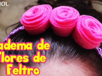 "Diadema de Flores de Feltro | Felt Flower Head Band | Spanish ""How To"" Videos 