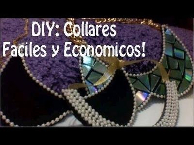 DIY ♥ Collares Faciles y Economicos