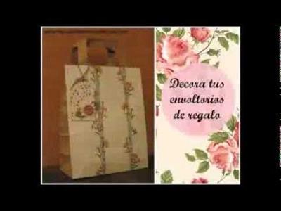 DIY: Cómo hacer envoltorios de regalo. Gift wrapping