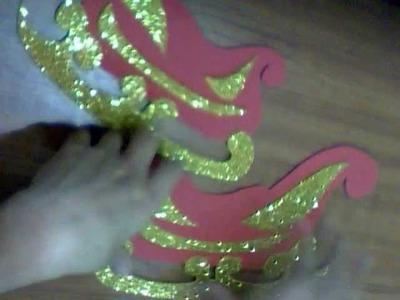 DIY: dulcero.cotillon trineo de santa manualidades de navidad