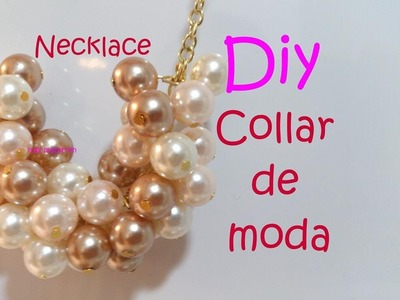 Diy. Necklace Collar de moda