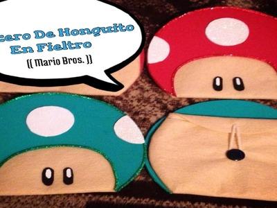 Dulceros De Honguito En Fieltro (( Mario Bros ))