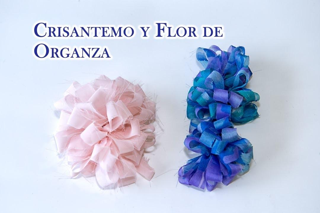 Flor de  Organza o Flor en Cascada Para Ropa,Accesorios y Cabello
