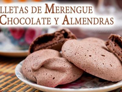 Galletas de Merengue de Chocolate y Almendras sin Gluten ni Grasa