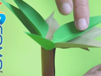 Hacer un árbol de papel para niños