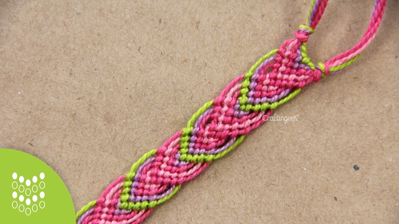 Macramé Leaves: Friendship Bracelet