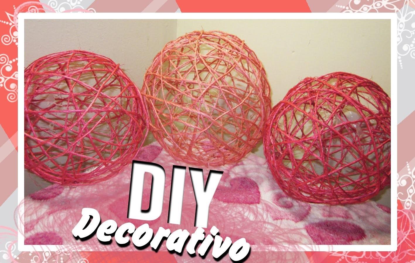 Manualidad: Esfera decorativa hecha con yute ^^ADORNO PARA FIESTAS^^