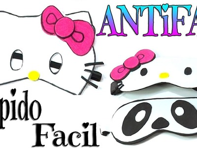 MANUALIDADES: ANTIFAZ DE HELLO KITTY PARA FIESTAS =^^=