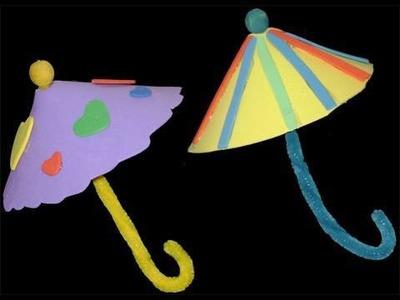 Manualidades de Goma Eva: sombrilla de goma eva