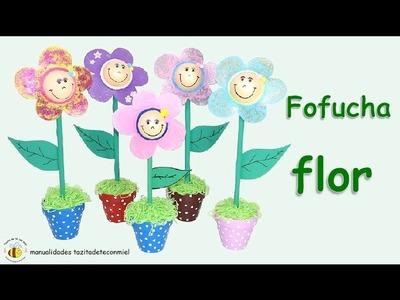 Manualidades: Fofucha flor no se necestian patrones. eva rubber flower
