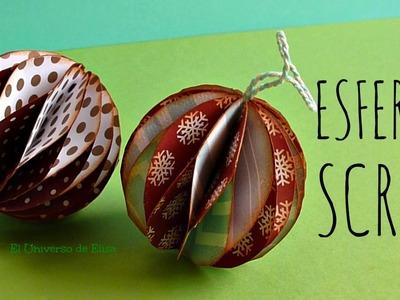 Manualidades para Navidad, Esferas Scrap, Esferas de Papel