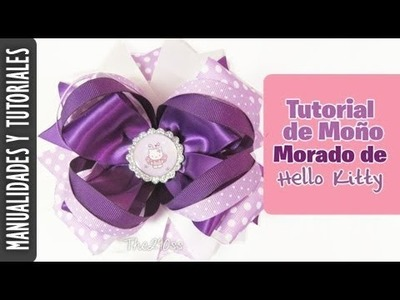 Moño de Hello Kitty Facil Tutorial