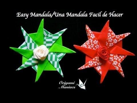 Origami Maniacs 127: Easy Mandala. Una Mandala Facil de Hacer