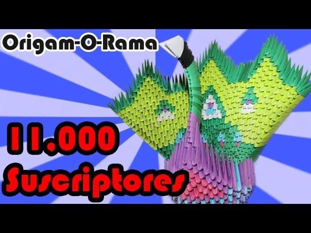 PAVORREAL de 800+ piezas!!! (#origami3D)