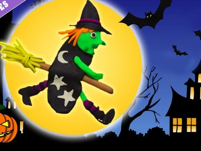 Play Doh – Witch   Bruja de Plastilina   Halloween Play Doh Witch (How To) - Spanish  