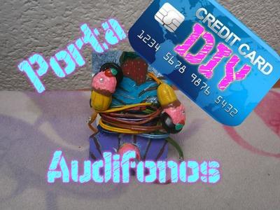 Porta Audifonos con Tarjetas de Credito, Organizador de cables auriculares.DIY headphone organizer