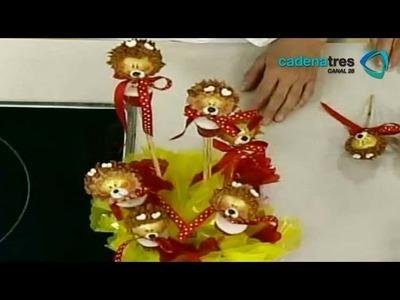 Receta de como preparar cupcakes de chocolate de león. Receta de decoración.repostería mexicana