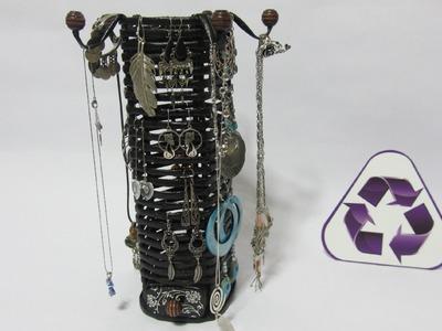 Reciclaje: Organizador de pendientes, aretes y collares.