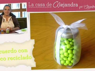 Recuerdo para un bautizo con frasco reciclado - DIY Baptize souvenir w. recycled jar