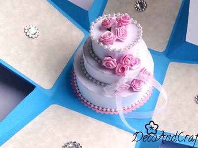 Tarjeta de cumpleaños : Tarjeta Explosiva con Pastel - [ Happy Birthday Card ]