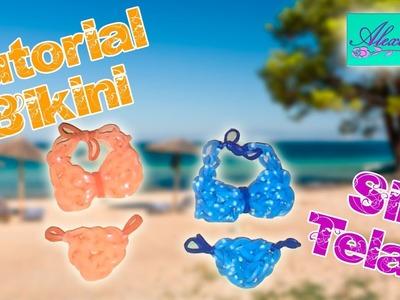 ♥ Tutorial: Bikini de gomitas (sin telar) ♥