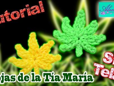♥ Tutorial: Hoja de la Tía María de gomitas (sin telar) ♥