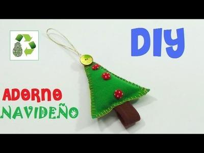139. DIY ADORNO NAVIDEÑO (RECICLAJE DE TELA)