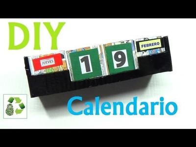 149. DIY CALENDARIO (RECICLAJE DE CARTON)