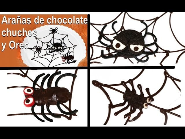 3 Arañas comestibles para Halloween. Edible spiders