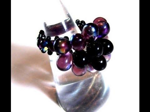Abalorios Manualidades - Como hacer un anillo con gotas