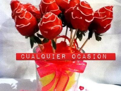 Arreglo fresas y chocolate manzana para regalo san Valentín ,día de las madres fruit Arrangement